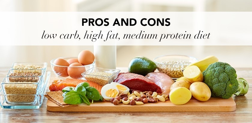 PROS AND CONS OF A LOW CARB, HIGH FAT, MEDIUM PROTEIN DIET