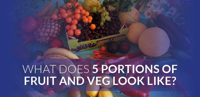 WHAT DOES FIVE PORTIONS OF FRUIT AND VEGETABLES LOOK LIKE?