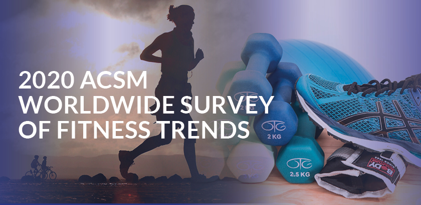 Results of the Worldwide Survey of Fitness Trends for 2020